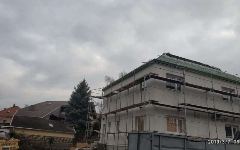 épület tatarozása
